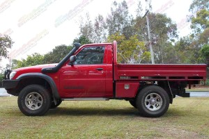 Nissan Patrol GU Ute after being fitted with a 2 Inch Bilstein and Airbag Man Airbag Lift Kit