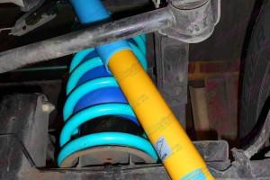 Bilstein shock absorber, Dobinson coils fitted to GU Patrol