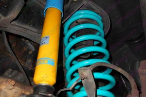 Nissan Patrol GU Ute fitted with some Bilstein shocks and Dobinson coils