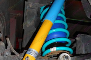 Nissan Patrol GU Ute fitted with some Bilstein shocks, Dobinson coils and Airbag Man coil helper bags