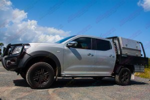 Left hand side view of the Nissan Navara NP300 D23 Dual Cab Airbag Man Coil Helper Kit