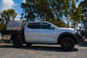 Right hand side view of the Nissan Navara NP300 D23 Dual Cab Airbag Man Coil Helper Kit