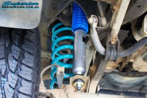 """Front left inside guard view of the fitted Nitro Gas 2"""" Shock + Coil Spring"""
