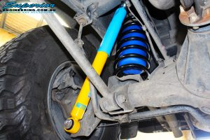 Rear right inside view of the fitted Bilstein Shock + Airbag