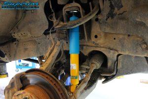 """Front right inside view of the fitted Bilstein 2"""" Inch Shock"""