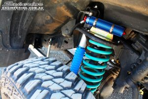"""Front right inside guard shot of the Superior 3"""" Remote Reservoir Shock with Coil Spring"""