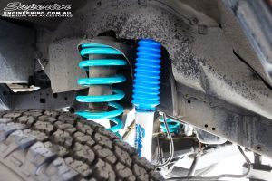 """Front right inside guard view of the fitted Superior Nitro Gas 3"""" Shock + Coil Spring"""