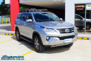"""Right front side view of a Toyota Fortuner Wagon in Silver before fitment of a Fox 2.0 Performance Series IFP 2"""" Inch Lift Kit with Airbag Man Coil Helper Air Kit"""